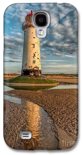 Rail Digital Galaxy S4 Cases - Talacre Lighthouse Sunset Galaxy S4 Case by Adrian Evans