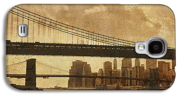 Twin Towers Nyc Galaxy S4 Cases - Tale of Two Bridges Galaxy S4 Case by Joann Vitali