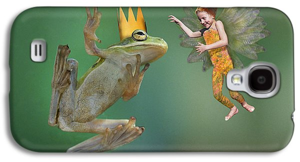 Flying Frog Galaxy S4 Cases - Talking With The Frog King Galaxy S4 Case by Buddy Mays
