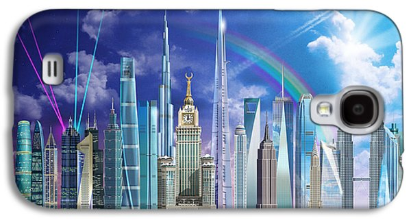 Willis Tower Galaxy S4 Cases - Tall Buildings Galaxy S4 Case by Garry Walton
