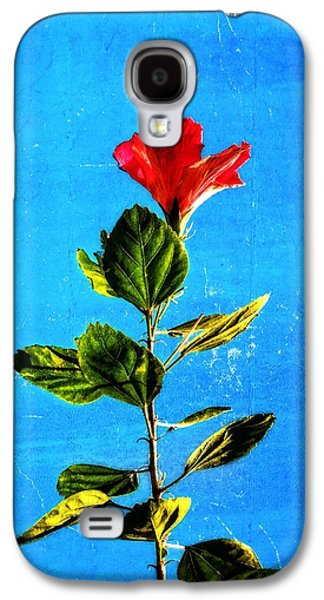 Hibiscus Galaxy S4 Cases - Tall Hibiscus - Flower Art By Sharon Cummings Galaxy S4 Case by Sharon Cummings