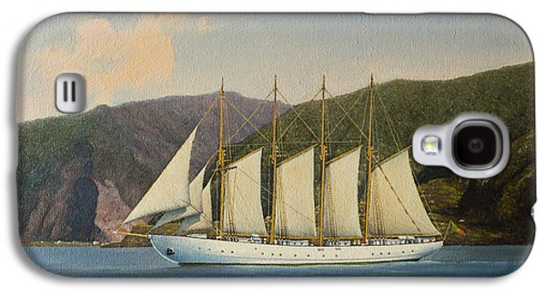 Frigates Paintings Galaxy S4 Cases - Tall Ship Galaxy S4 Case by Andre Araujo