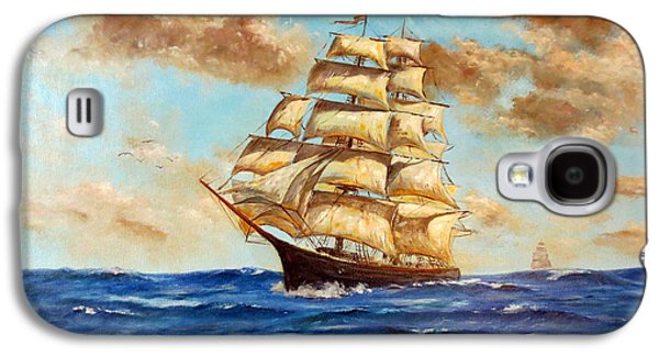 Tall Ship On The South Sea Galaxy S4 Case by Lee Piper