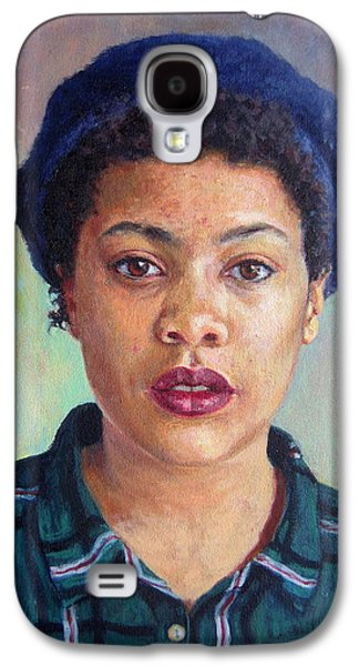 Girl Galaxy S4 Cases - Talla, 2014,oil On Canvas Galaxy S4 Case by Tilly Willis