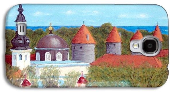 Skylines Pastels Galaxy S4 Cases - Tallinn Skyline Galaxy S4 Case by David Henderson
