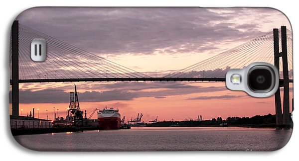 Chatham Galaxy S4 Cases - Talmadge Memorial Bridge Galaxy S4 Case by John Rizzuto