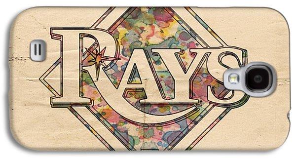 Bat Digital Art Galaxy S4 Cases - Tampa Bay Rays Vintage Art Galaxy S4 Case by Florian Rodarte