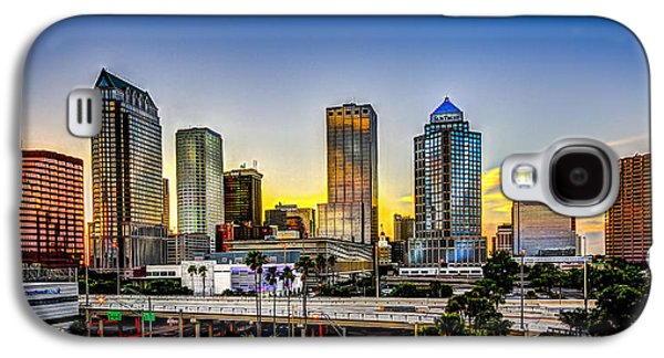 Glass Reflections Galaxy S4 Cases - Tampa Skyline Galaxy S4 Case by Marvin Spates