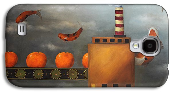 Tangerine Paintings Galaxy S4 Cases - Tangerine Dream Galaxy S4 Case by Leah Saulnier The Painting Maniac