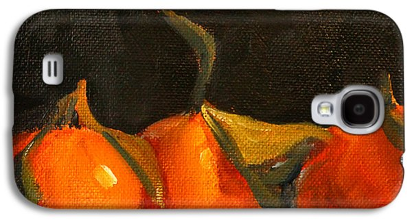 Tangerine Party Galaxy S4 Case by Nancy Merkle