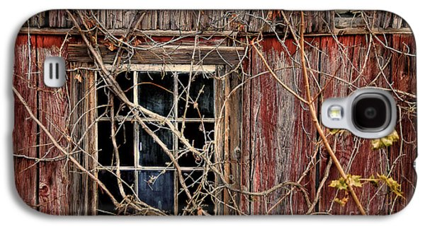 Red Barn In Winter Galaxy S4 Cases - Tangled Up In Time Galaxy S4 Case by Lois Bryan