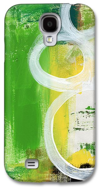 Abstracted Galaxy S4 Cases - Tango- Abstract Painting Galaxy S4 Case by Linda Woods
