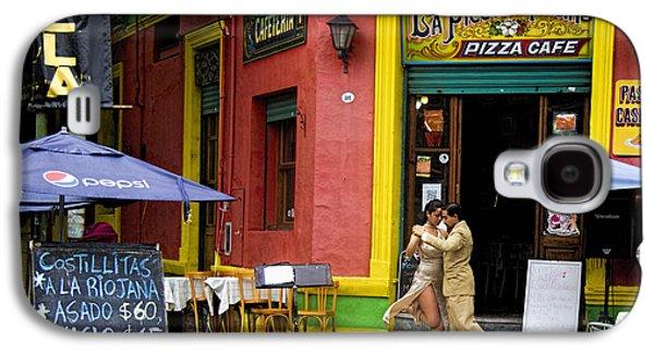 Urban Scenes Galaxy S4 Cases - Tango Dancing in La Boca Galaxy S4 Case by David Smith