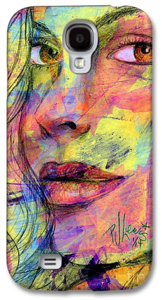 Colored Pencil Abstract Drawings Galaxy S4 Cases - Tanya Galaxy S4 Case by P J Lewis