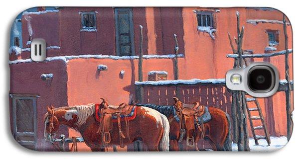 Taos Galaxy S4 Cases - Taos Horses Galaxy S4 Case by Randy Follis