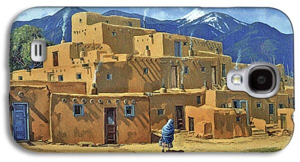 Taos Galaxy S4 Cases - Taos Pueblo Galaxy S4 Case by Randy Follis