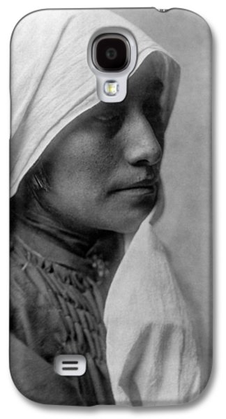 Taos Galaxy S4 Cases - Taos woman circa 1905 Galaxy S4 Case by Aged Pixel
