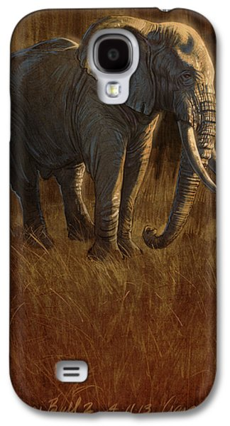 Drawing Galaxy S4 Cases - Tarangire Bull 2 Galaxy S4 Case by Aaron Blaise