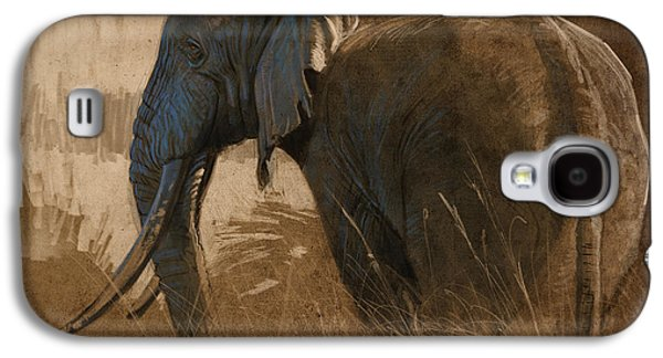 Digital Galaxy S4 Cases - Tarangire Bull Galaxy S4 Case by Aaron Blaise