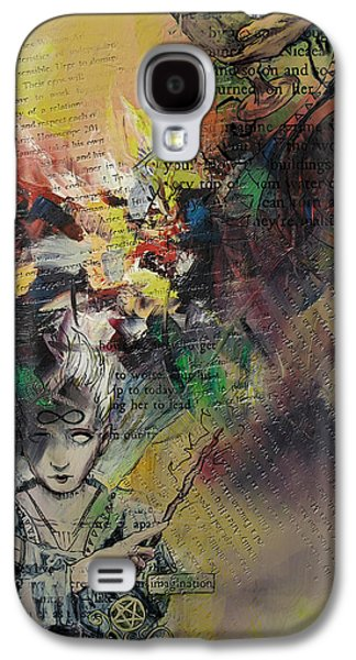 Astronomy Paintings Galaxy S4 Cases - Tarot Card Abstract 005 Galaxy S4 Case by Corporate Art Task Force