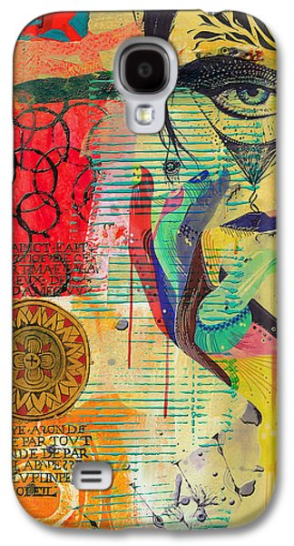 Astronomy Paintings Galaxy S4 Cases - Tarot Card Abstract 007 Galaxy S4 Case by Corporate Art Task Force