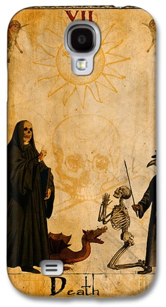 Religious Galaxy S4 Cases - Tarot Card Death Galaxy S4 Case by Cinema Photography