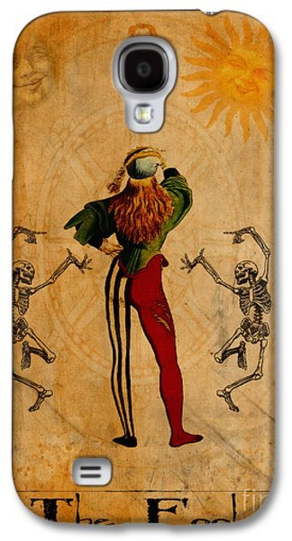 Religious Digital Art Galaxy S4 Cases - Tarot Card The Fool Galaxy S4 Case by Cinema Photography