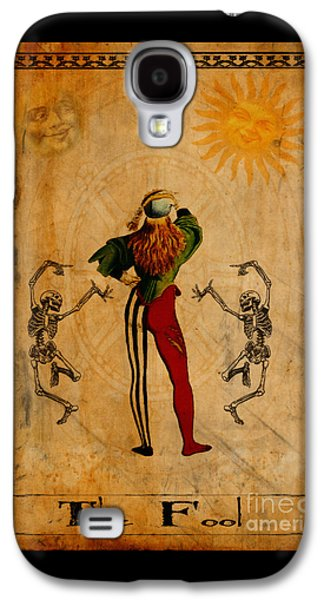 Jester Digital Galaxy S4 Cases - Tarot Card The Fool Galaxy S4 Case by Cinema Photography