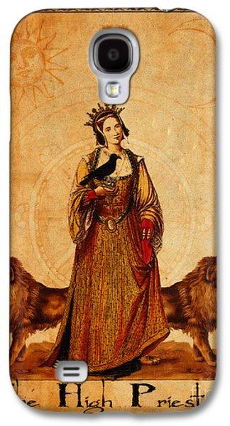 Religious Digital Art Galaxy S4 Cases - Tarot Card The High Priestess Galaxy S4 Case by Cinema Photography