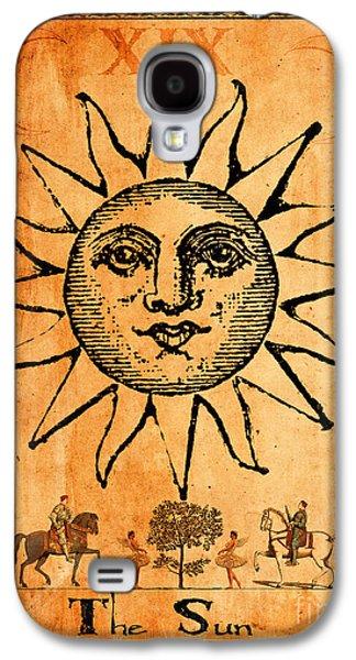 Religious Digital Art Galaxy S4 Cases - Tarot Card The Sun Galaxy S4 Case by Cinema Photography