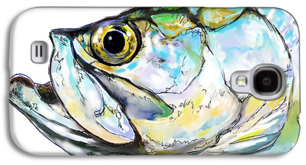 Flyfishing Galaxy S4 Cases - Tarpon Portrait Galaxy S4 Case by Savlen Art