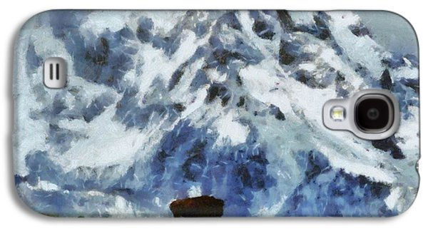 Bison Mixed Media Galaxy S4 Cases - Tatanka Buffalo In Wyoming Galaxy S4 Case by Dan Sproul
