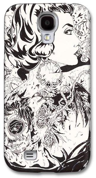 Inner Self Galaxy S4 Cases - Tattoo Vixen Galaxy S4 Case by Bobby Wilkins III