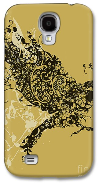 Patterned Galaxy S4 Cases - Tattooed bird Galaxy S4 Case by Budi Kwan