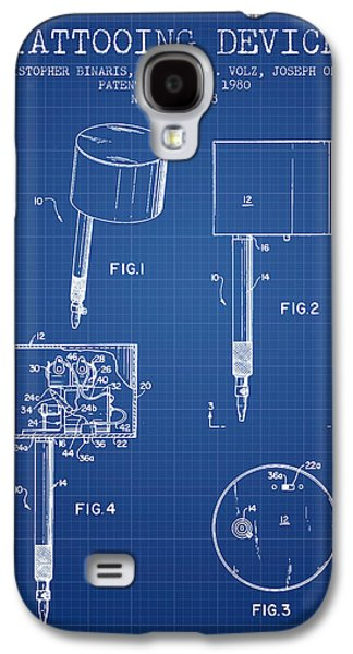 Tattoo Digital Art Galaxy S4 Cases - Tattooing Device Patent From 1980 - Blueprint Galaxy S4 Case by Aged Pixel