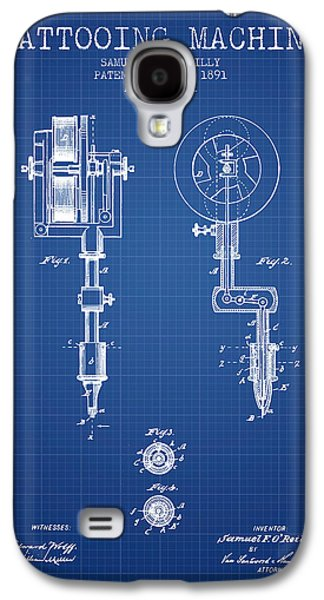Tattoo Digital Art Galaxy S4 Cases - Tattooing Machine Patent from 1891 - Blueprint Galaxy S4 Case by Aged Pixel