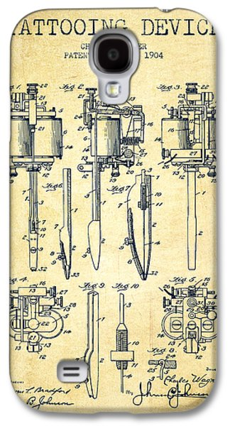 Pencil Digital Galaxy S4 Cases - Tattooing Machine Patent From 1904 - Vintage Galaxy S4 Case by Aged Pixel