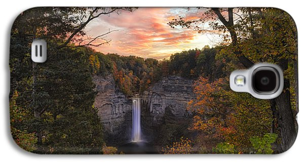 Taughannock Falls Autumn Sunset Galaxy S4 Case by Michele Steffey