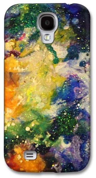 Splashy Paintings Galaxy S4 Cases - Taurus14 Galaxy S4 Case by Kathleen Fowler