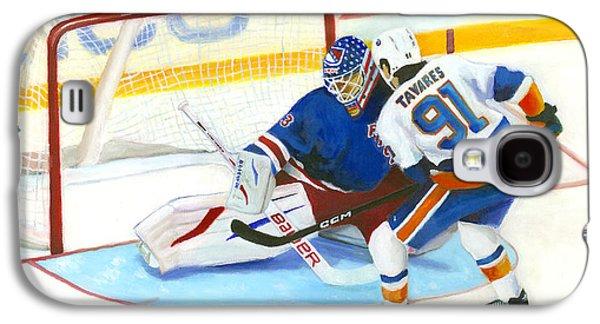 Ice Hockey Paintings Galaxy S4 Cases - Tavares  Galaxy S4 Case by Joe Maracic