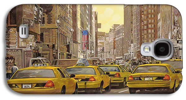 Statue Galaxy S4 Cases - taxi a New York Galaxy S4 Case by Guido Borelli