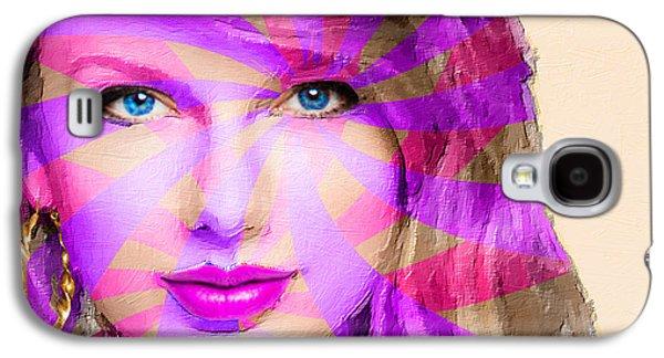 Taylor Swift Galaxy S4 Cases - Taylor Swift Pink Horizontal Galaxy S4 Case by Tony Rubino