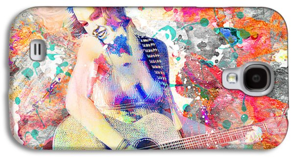 Taylor Swift Galaxy S4 Cases - Taylor Swift Art Print Galaxy S4 Case by Ryan RockChromatic