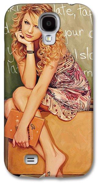 Taylor Swift Galaxy S4 Cases - Taylor Swift Artwork Galaxy S4 Case by Sheraz A