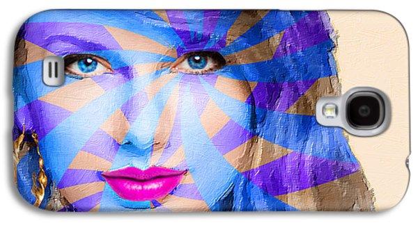 Taylor Swift Galaxy S4 Cases - Taylor Swift Blue Horizontal Galaxy S4 Case by Tony Rubino