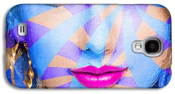 Taylor Swift Galaxy S4 Cases - Taylor Swift Blue Square Galaxy S4 Case by Tony Rubino