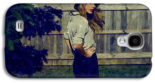 Taylor Swift Galaxy S4 Cases - Taylor Swift Galaxy S4 Case by Florian Rodarte