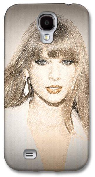 Taylor Swift Galaxy S4 Cases - Taylor Swift Sketch Galaxy S4 Case by Anibal Diaz