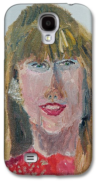 Taylor Swift Paintings Galaxy S4 Cases - Taylor Swift Sketch Galaxy S4 Case by Michael Helfen
