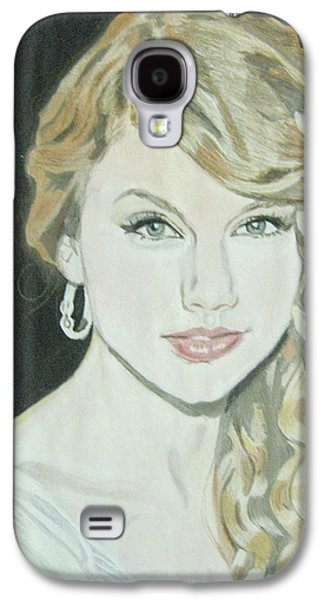 Taylor Swift Paintings Galaxy S4 Cases - Taylor Swift Galaxy S4 Case by Vinit Sharma